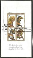 US SC # 2979a Carousel Horses  FDC.  No Cachet