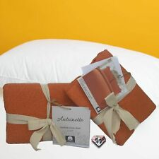 Antoinette Standard Cotton Quilted Orange Pillow Shams Set of 2