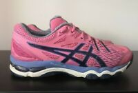 Womens ASICS Gel Netburner Super 6 Pink Netball Shoes Trainers - UK 6