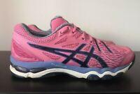 Womens ASICS Gel Netburner Super 6 Pink Netball Shoes Trainers - UK 6