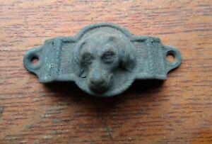 Antique Cast Iron Doggie or Hound Drawer Pull c1885