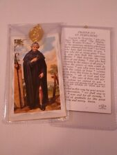 St Peregrine ~ Prayer Card & Medal ~ Pack Of Three