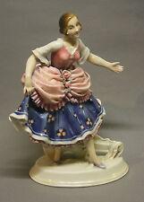 Porzellan KARL ENS elegante Dame Tänzerin  Porzellanfigur Porcelain uralt!