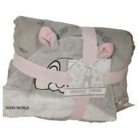 Primark Disney Thumper Soft Hooded Throw Fleece Cosy Blanket 125cm X 150 cm