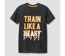 Boys' Train Like a Beast Graphic T-Shirt - Cat & Jack Black size 4/5