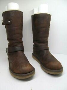 UGG Australia 5678 Kensington Womens Double Buckle Sherling Biker Boots Size 8 B