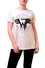 Wildfox Women's On Tour Roadtrip Jersey Top Alabaster Ivory Size S RRP £55 BCF74