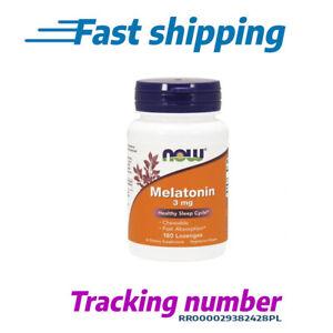 MELATON NOW FOODS 3 mg 180 Veg Kapseln Schlaflosigkeit Schlaftabletten