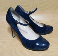 Franco Sarto Ankle Strap Blue Pumps Heels Womens Shoes Size 9.5 M