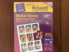 Avery Wallet Glossy Digital Photo Paper including Microsoft Picture It! Software