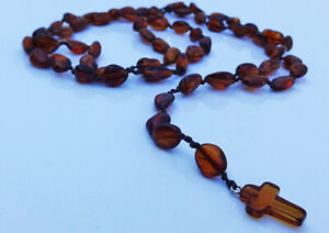 Natural Baltic Amber  Necklace Rosary