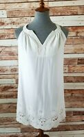 Xhilaration Women's XS Ivory White Collection Eyelet Racerback Dress - NWT
