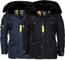 Geographical Norway Luxus warme Herren Winter jacke Parka Anorak Outdoor Mantel