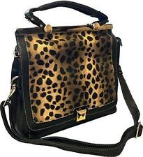 Roma Leathers 8006 Leopard Print Messenger Crossbody Concealed Purse