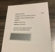 2019-20 Panini Spectra Kyrie Irving GOLD AUTO CATALYSTS SIGNATURES #d /15 !