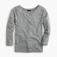 NWT J. Crew Women's Twist-Back Long-Sleeve T-Shirt Heather Gray SMALL H7199