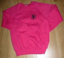 "PLAYBOY-NEW-Embroidered Sweatshirt-RASPBERRY-Kids Size 9/10 (32"" Chest )SUPERB"