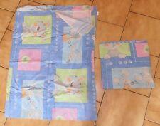 Parure drap pour lit 90 / 190 cm + taie assortie