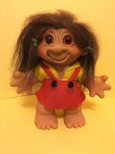 "Vintage 8"" Girl Euro Thomas Dam Troll Doll - Rare Early 1961 Version"