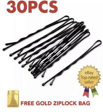 30 pcs Black Bobby Pins Hair clips Grips Salon, Dance, School Hairpin Barrette