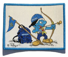 SMURF SCOUT BADGE, Scouts UK Archery, Beaver Scouts Fun Patch - Very popular