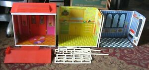 Vintage Barbie Lively Livin Surprise House Mattel 2 story w accessories Camping