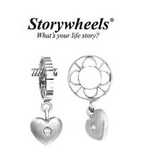 Genuine Storywheels Argento Sterling e Diamante Amore Cuore Charm Bead