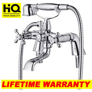 Chrome Traditional Bath Filler Shower Mixer Tap with Handset Bathroom Taps