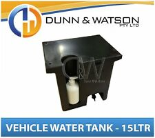 Vehicle Water Storage Tank, Pump Bottle (15Ltr) Black PVC Ute Tray Truck Trailer