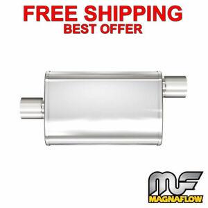 "MagnaFlow XL - 3 Chamber Stainless Steel Turbo Muffler - 2.5"" C/O -13216"