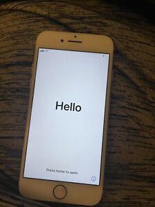 Apple iPhone 7 Verizon 128GB Rose GOLD Broke HOME BUTTON fine otherwise unlocked