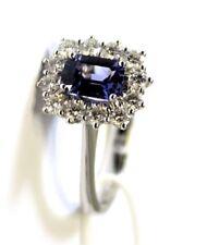 Anello oro bianco 18kt 750 /°°° MIRCO VISCONTI con Zaffiro e Diamanti