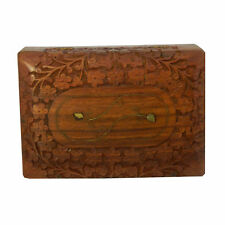 Boîte en bois Camilla 17x12x5cm finement sculptée Boîte de rangement Coffret