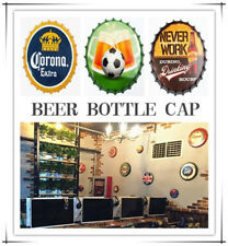 35cm Beer Bottle Caps Tin Metal Sign Poster Plaque Bar Pub Club Wall Decor