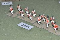25mm napoleonic / british - WATERLOO 12 SKIRMISHERS INFANTRY 25mm - inf (3381)