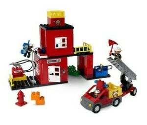 LEGO DUPLO Set  4664 FIRE STATION  Complete, with Minifigures &  Siren - No Box