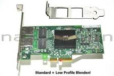 Intel Pro/1000PT Dual Port Server Adapter PCIe Gigabit Ethernet 2xRJ-45, LPF+SPF