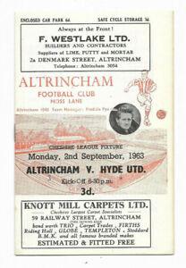 1963/64 Cheshire County League - ALTRINCHAM v. HYDE UNITED
