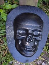 "Skull plastic mold plaster cement concrete mould 8.5"" x 6"" x 2"""