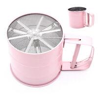 KM_ Handheld Mesh Flour Icing Sugar Sifter Sieve Strainer Cup Baking Shaker Nove