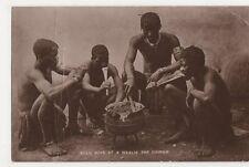 South Africa, Zulu Boys at A Mealie Pap Dinner RP Postcard, B323