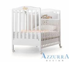 Lettino Azzurra Design Web Bianco con decoro bimbi infanzia