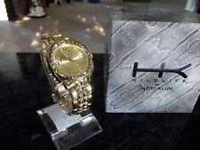 Gorgeous Gold tone shiny Womens WATCH Heidi Klum Wild Life collection Orig. Box!