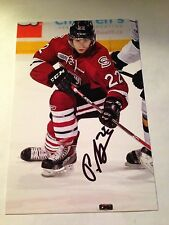 Pius Suter SIGNED 4x6 photo GUELPH STORM / SWITZERLAND #2