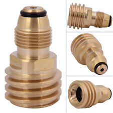 Converts Propane LP TANK POL Service Valve to QCC Outlet Brass Refill Adapter