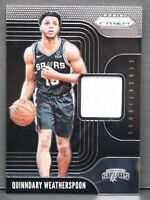 2019 Panini Prizm Quinndary Weatherspoon Sensational Swatches Rookie Jersey Card