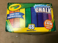 Crayola Non-Toxic Washable Sidewalk Chalk, 4-3/16L in X 13/16 sq-Inches,