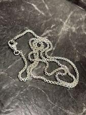 David Yurman Sterling Silver 925 Small Box Chain Necklace 2.7mm