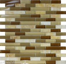 10SF Honey Onyx Marble Glass Mosaic Tile kitchen backsplash wall bathroom shower