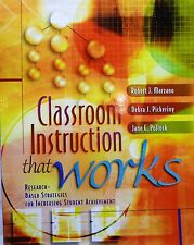 Classroom Instruction That Works-Research-Based Strategies...2001 Paperback Text